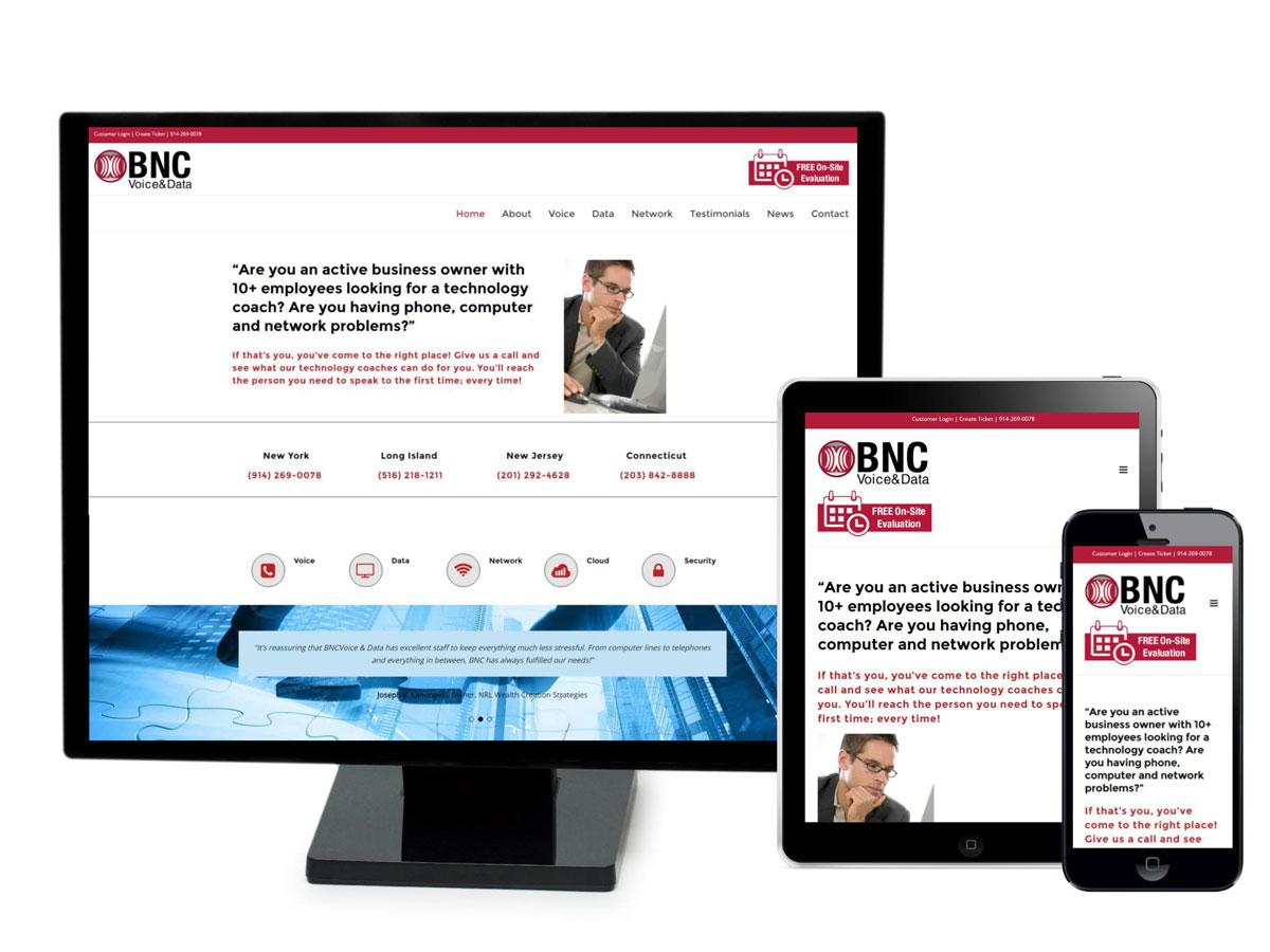 BNC voice & Data Website Design Portfolio