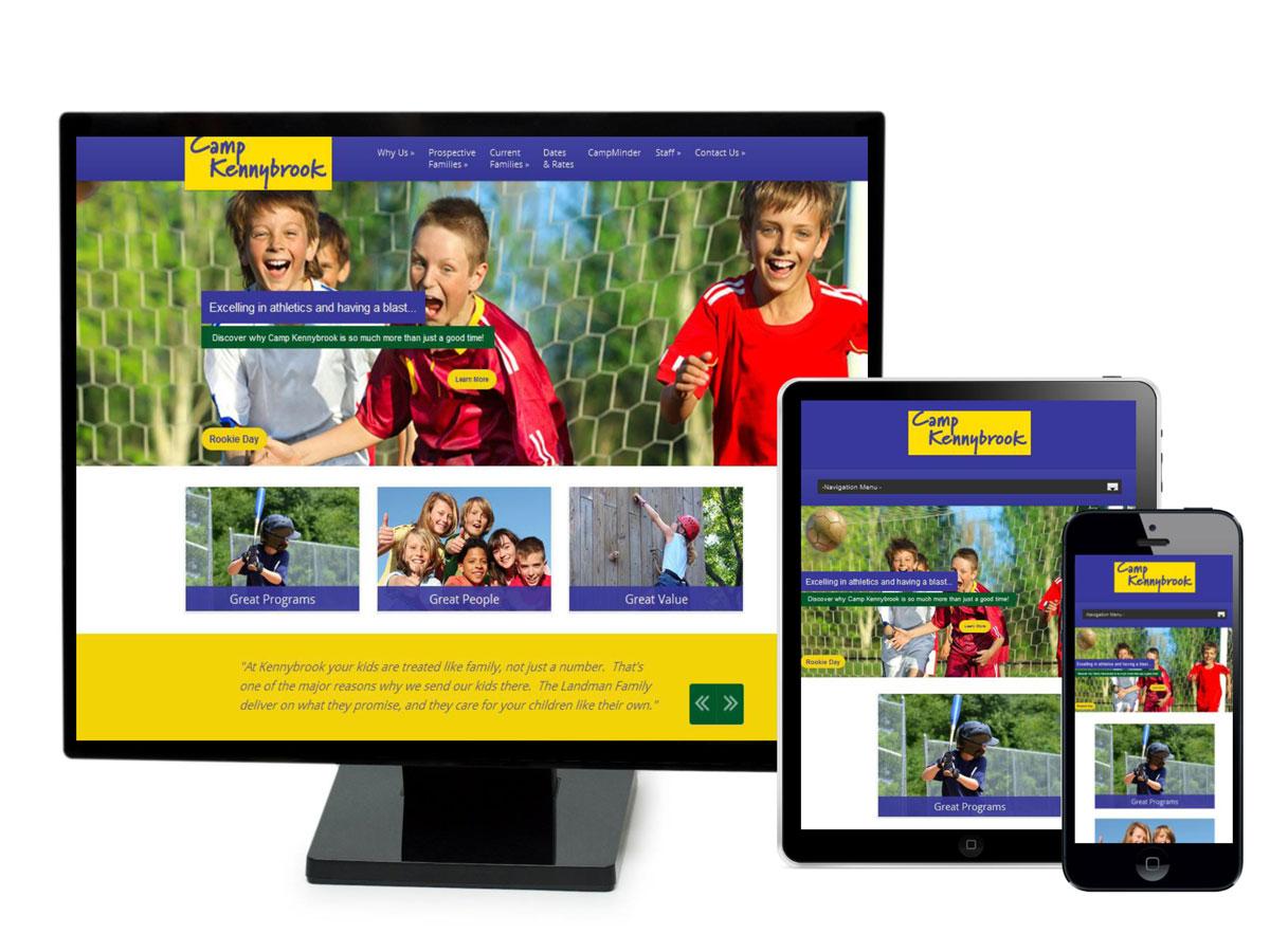 Camp Kennybrook Website Design Portfolio