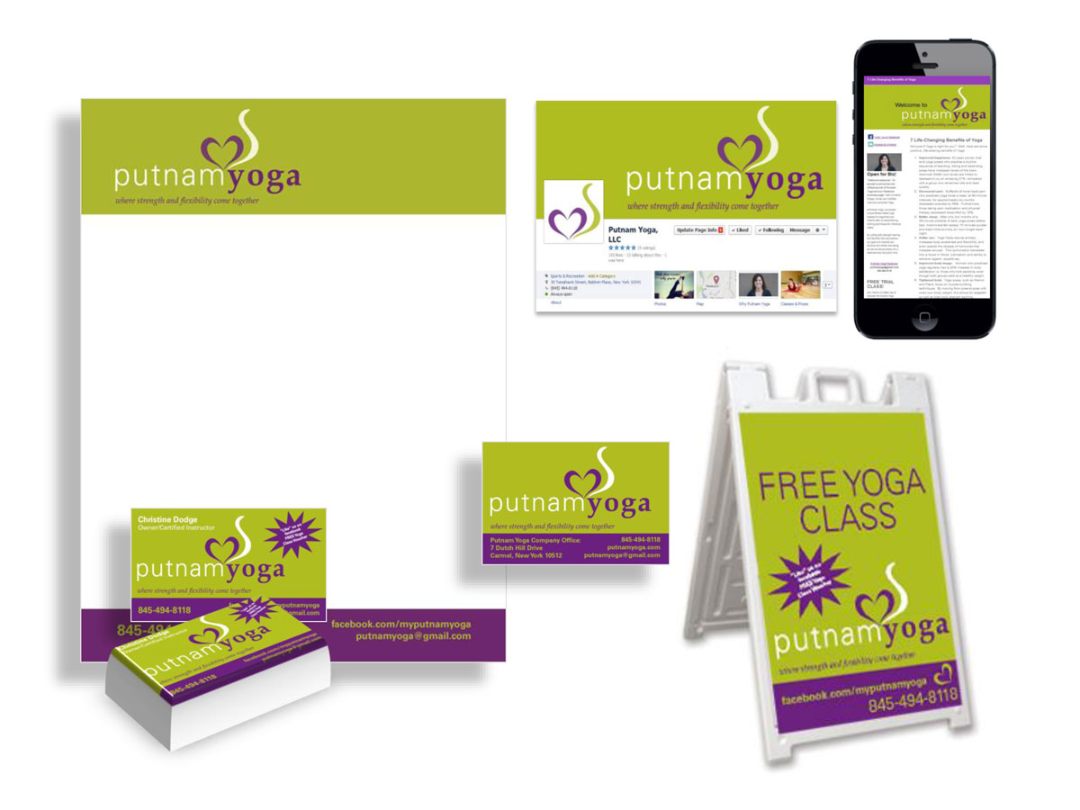 Putnam Yoga Print and Digital Campaigns