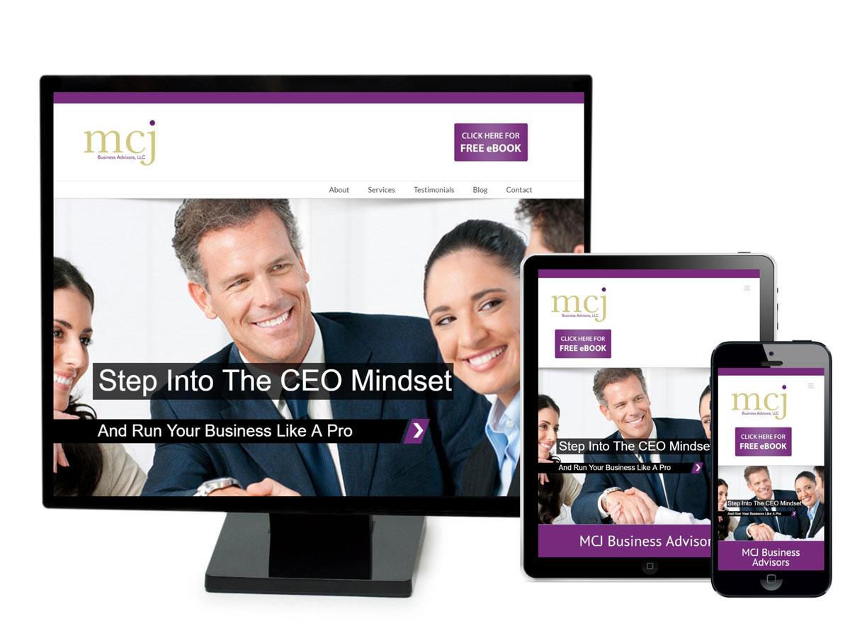 MCJ Business Advisors Website Design Portfolio