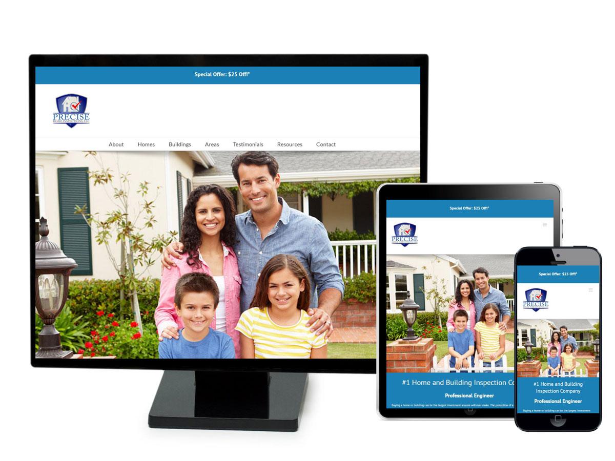 Precise Home Inspections Website Design Portfolio