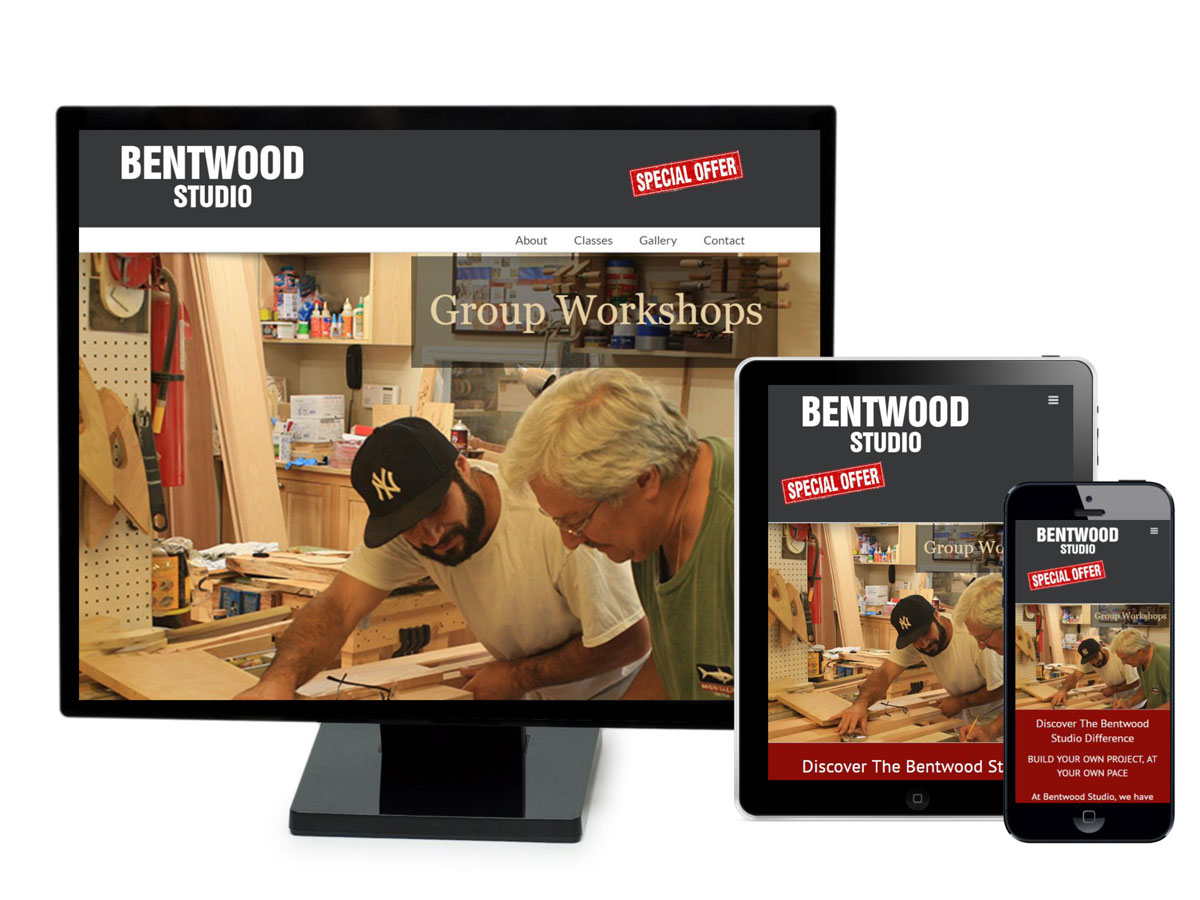 Bentwood Studio Website Design Portfolio