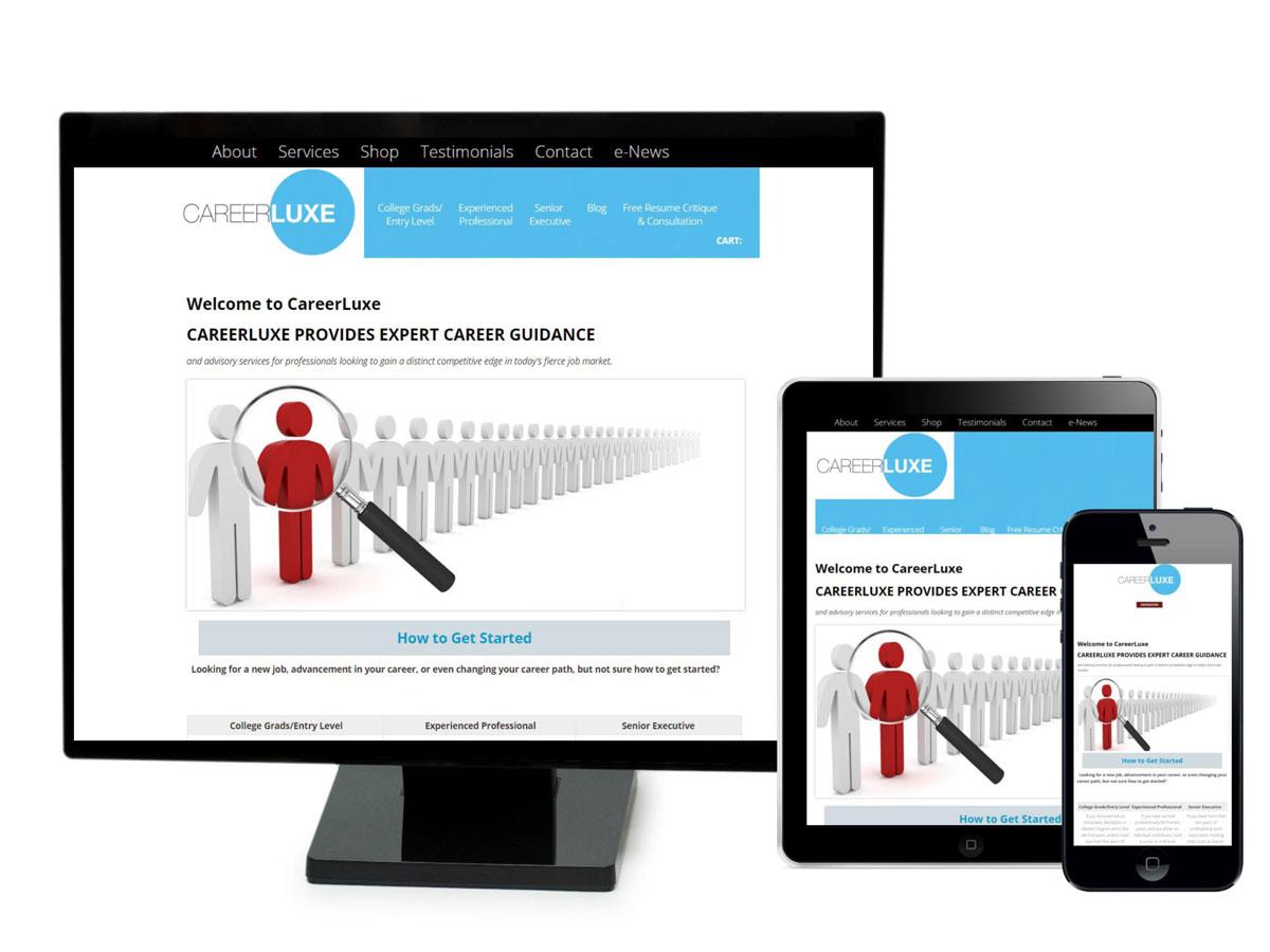 Career Luxe Website Design Portfolio
