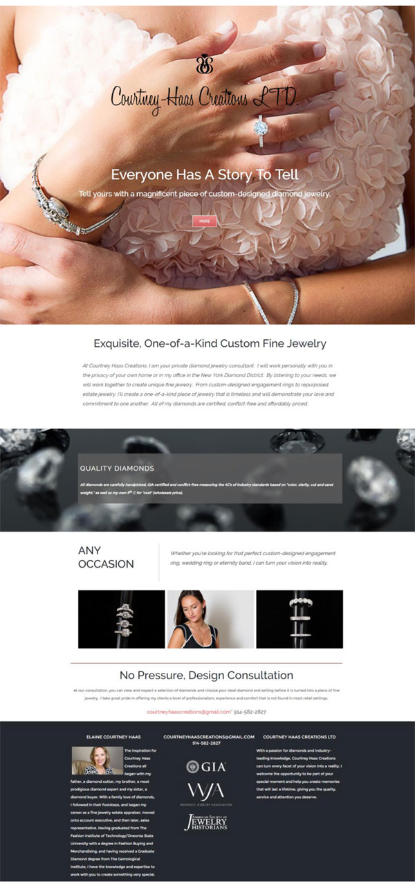 Courtney Haas Creations Website Design Portfolio