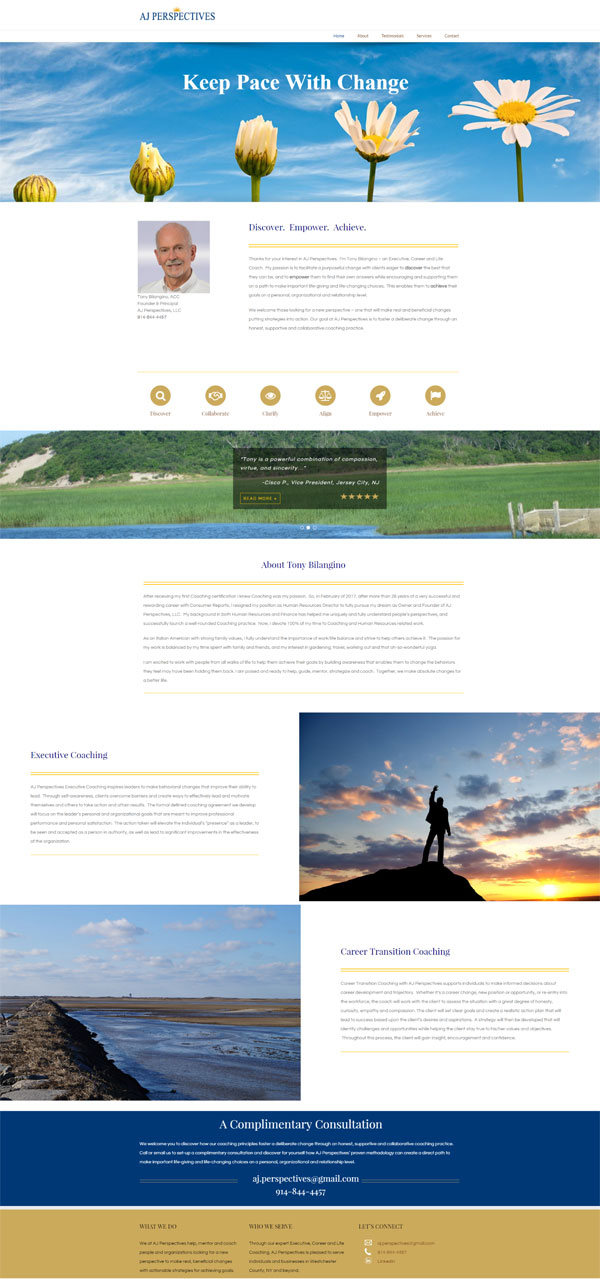 AJ Perspectives Website Design Portfolio
