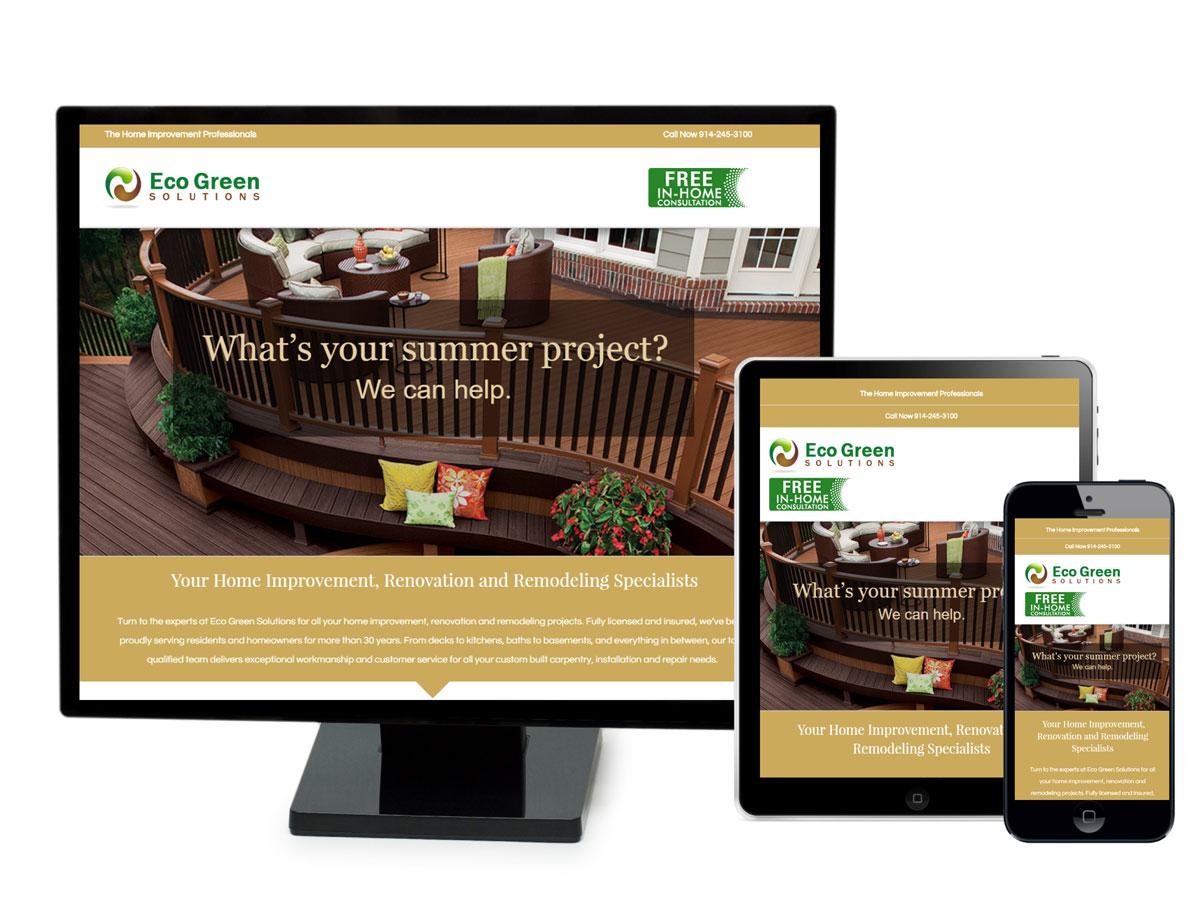 Eco Green Solutions Website Design Portfolio
