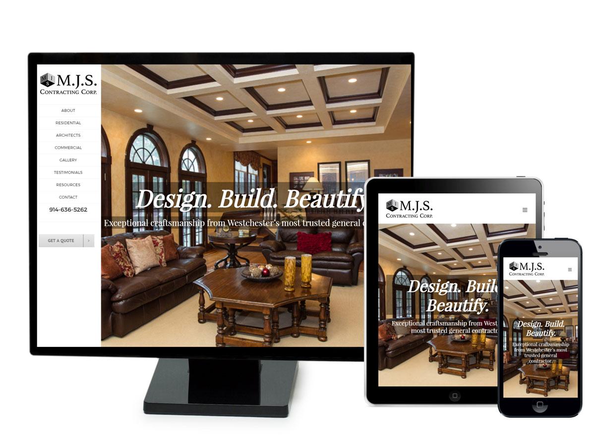 M. J. S. Contracting Corp Website Design Portfolio