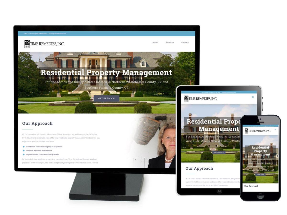 Time Remedies Website Design Portfolio