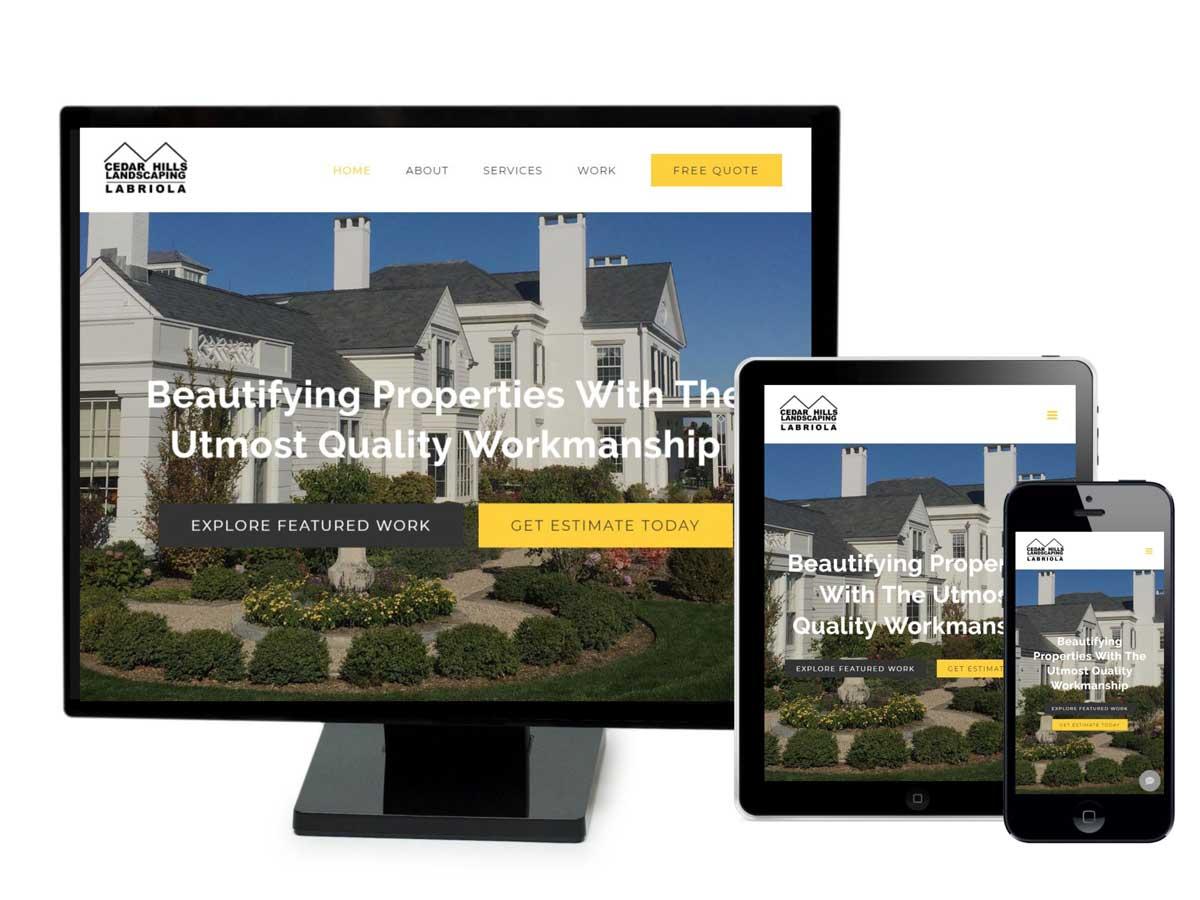 Cedar Hills Landscaping Website Design Portfolio
