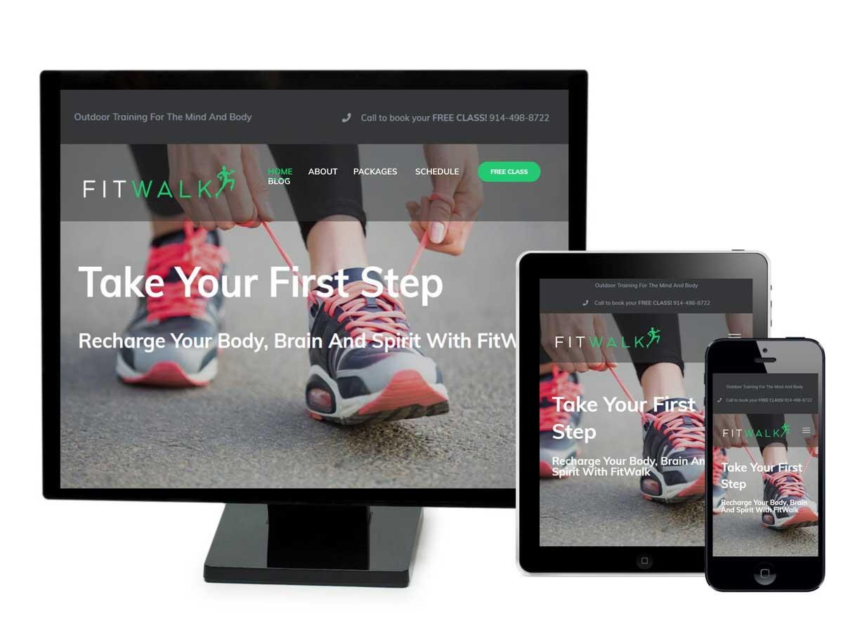 FitWalk Website Design Portfolio