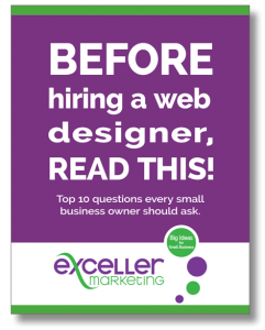 Exceller Marketing eGuide 2020 Hiring a Web Designer