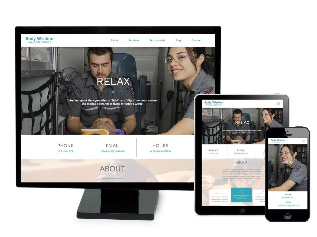Body Wisdom Massage Website Design Portfolio