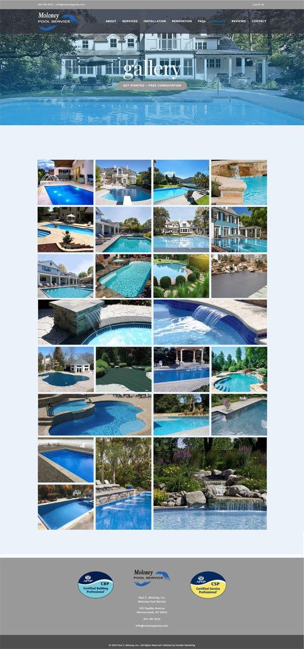 Moloney Pool Service Website Portfolio