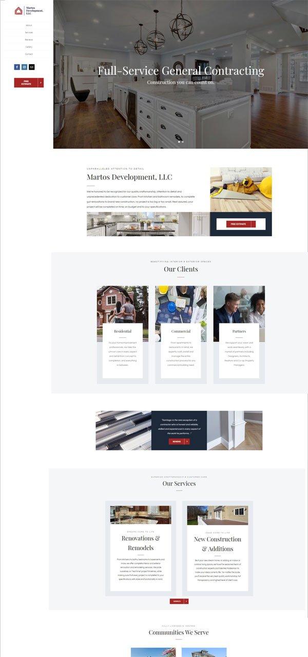Martos Development client's page.