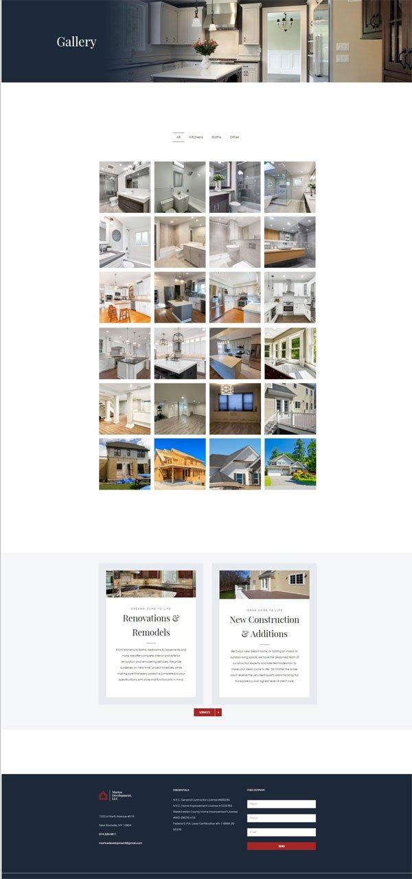 Martos Development gallery images page screenshot.